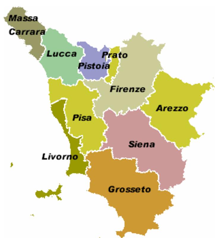 Cartina Fisica E Politica Della Toscana.Vacanze In Toscana Cavalierkingitalia