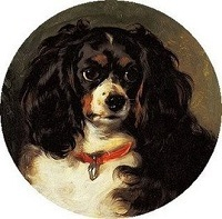 Unsigned oil on canvas of Princess Victoria's favourite spaniel, 'Dash'
